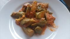 Courgette in Tomato Sauce